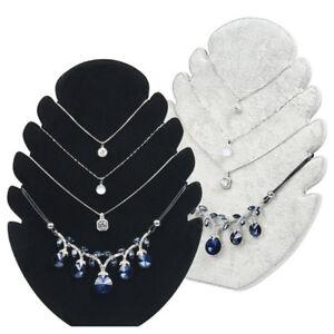 11-034-Leaf-Pendant-Necklace-Display-Shelf-Jewelry-Organizer-Holder-Stand-Rack
