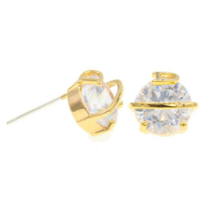 10mm-Men-Women-Silver-Post-CZ-Stones-Stud-Bling-Earrings-Cute-Studs-Designer