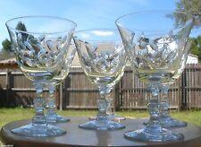 6 Duncan & Miller Water Goblet's Rock Crystal Cut  ~SET OF 6~ BELLEEK