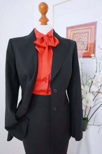 42 Schurwolle Blazer Business Gr Escada Jacket Black Edler Label xwHnqq80U