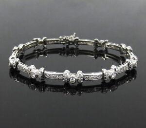 Details About Rare Gerard 3 40ct De Vs Diamond 18k White Gold Bow Tie Tennis Bracelet