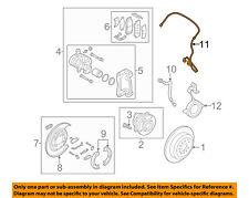 SUZUKI OEM 07-09 XL-7 ABS Anti-lock Brakes-Front Speed Sensor 5621078J01