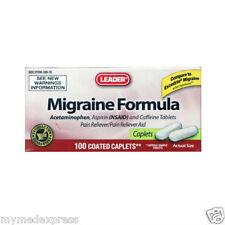 Leader Migraine Formula Caplets 100ct 096295111750