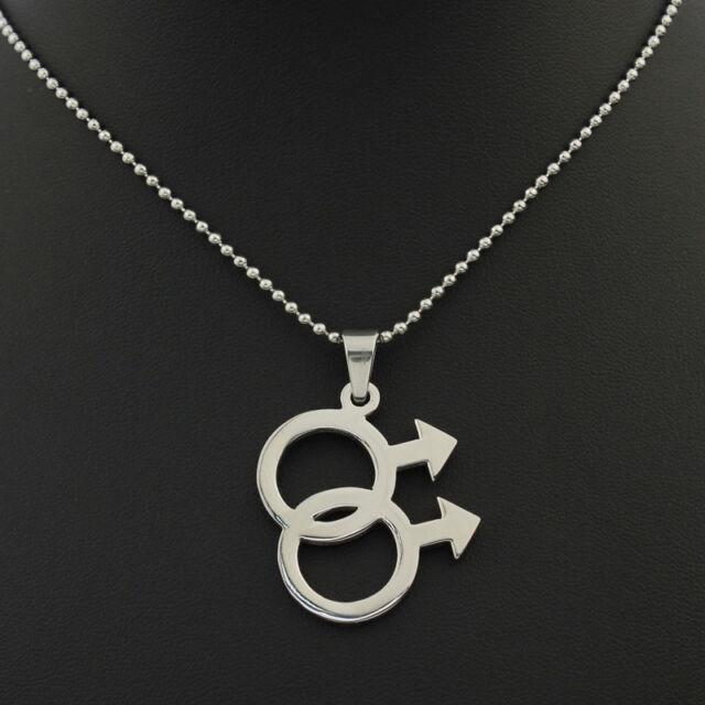 Men's big gay bear pride pendant necklace