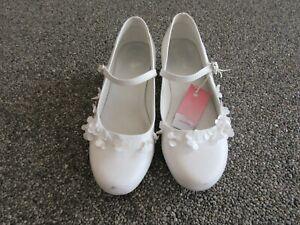 Details zu Ballerina Schuhe weiß Gr. 34 mit kleinem Absatz
