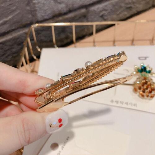 Filles PINEAPPLE Géométrique Cristal en épingle à Cheveux Barrette Forme Pince à Cheveux Accessoires