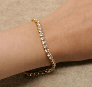 "5.50 Carat Round Cut Diamond /""XO/"" Womens Tennis Bracelet 14k Yellow Gold Over"