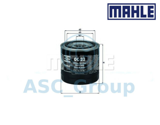 Genuine MAHLE Replacement Screw-on Engine Oil Filter OC 23 OC23