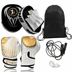 Boxing-Gloves-Focus-Pads-Hook-amp-Jabs-Mitts-Gym-Training-MMA-Fight-Gel-Pad-Kids
