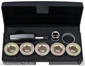 KS Tools Kit riparazione filetto vite scarico olio,12-tlg. M24x1,5 150.4950