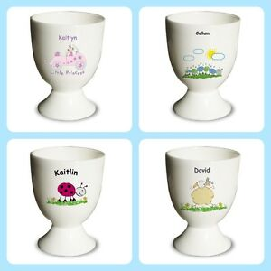 Personalised egg cup childrens or baby easter gift idea christening image is loading personalised egg cup childrens or baby easter gift negle Gallery