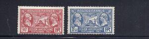 Frankreich-1927-American-Legionaere-in-Frankreich-Sc-243-44-F-VF-MNH