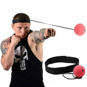 Fight Ball Reflex Boxing Trainer Training Speed Punch Head Band String Ball UK