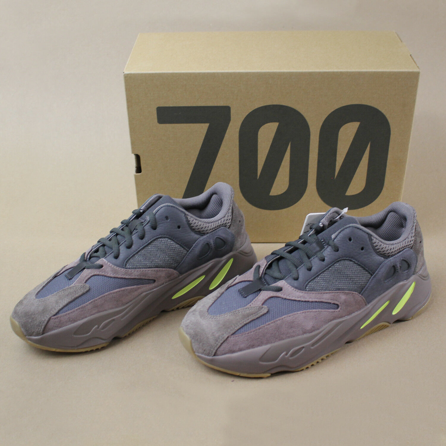 Yeezy Boost 700 Mauve By Adidas Size 9.5 NEW IN BOX with Free Shipping