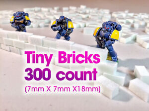 High Density XPS Hobby Foam Bricks 300 Count TINY (7mm X 7mm X 17mm) Wargaming