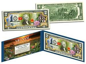 VIETNAM-Independence-Freedom-amp-Happiness-Colorized-2-Bill-U-S-Legal-Tender
