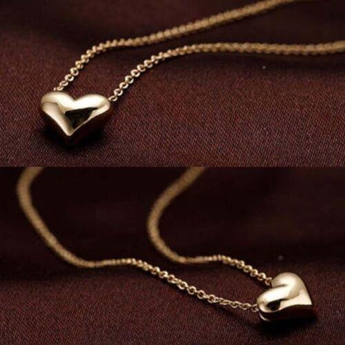 Schicke kleine kleine Gold Liebe Herz kurze Halskette präsent Geschenk Neu