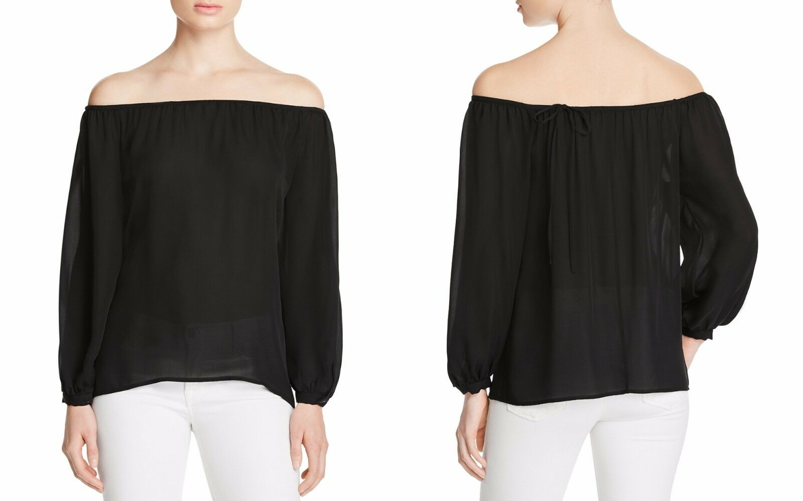 J Brand Palerma Off-the-Shoulder Top schwarz Small NWT MSRP