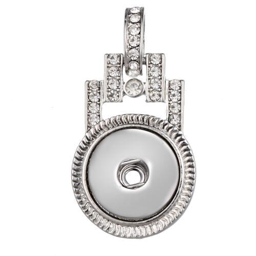 Hot Femme Cristal Bijoux Collier Pendentif fit 18 mm Noosa Snap Bouton N139