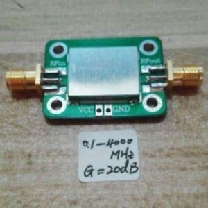 LNA-0-1-4000MHz-Gain-20dB-Broadband-RF-amplifier-FM-HF-VHF-UHF-Ham-Radio