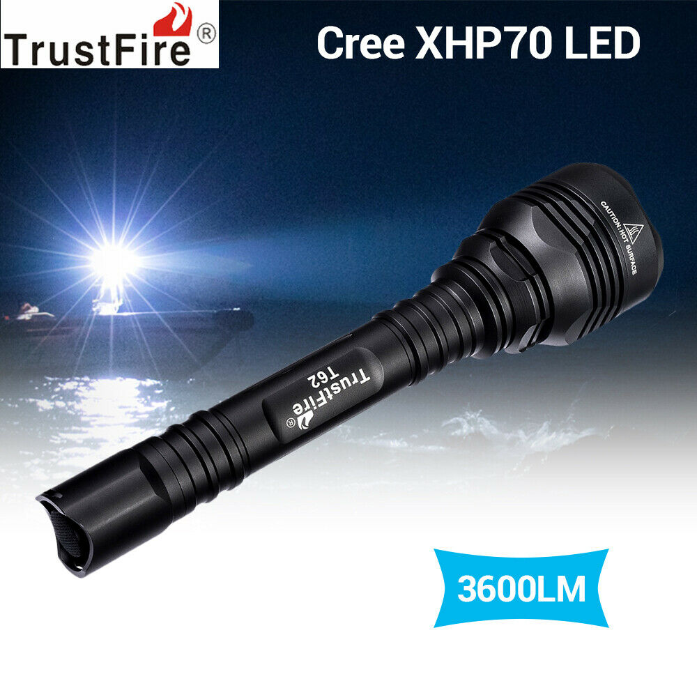 TrustFire 3600 LuSies Tactical Flashlight Torch IPX8 Hohe Helligkeit für Camping