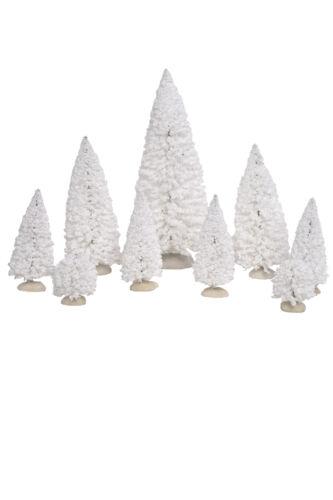 Weihnachtsdorf, White Trees Set//9 608320 LUVILLE
