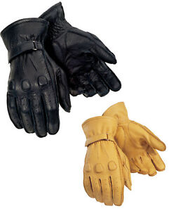 Tourmaster-Mens-Deerskin-Leather-Motorcycle-Gloves-All-Sizes-amp-Colors