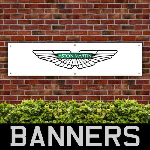 BANPN00003 Aston Martin PVC Banner Wings Garage Workshop Sign