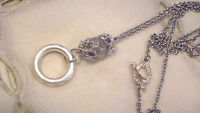 Elegant Silver Plate Chain Crystal Bead Eyeglass Holder or ID Necklace Lanyard