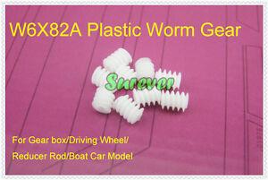 10PCS-Plastic-Worm-Gear-fit-2mm-motor-Shaft-Driving-Wheel-Reducer-Rod-Car-Boat