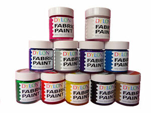 25ml-JARS-DYLON-FABRIC-CLOTHES-TEXTILE-TSHIRT-PERMANENT-COLOUR-PAINTS-SOFT-DYES