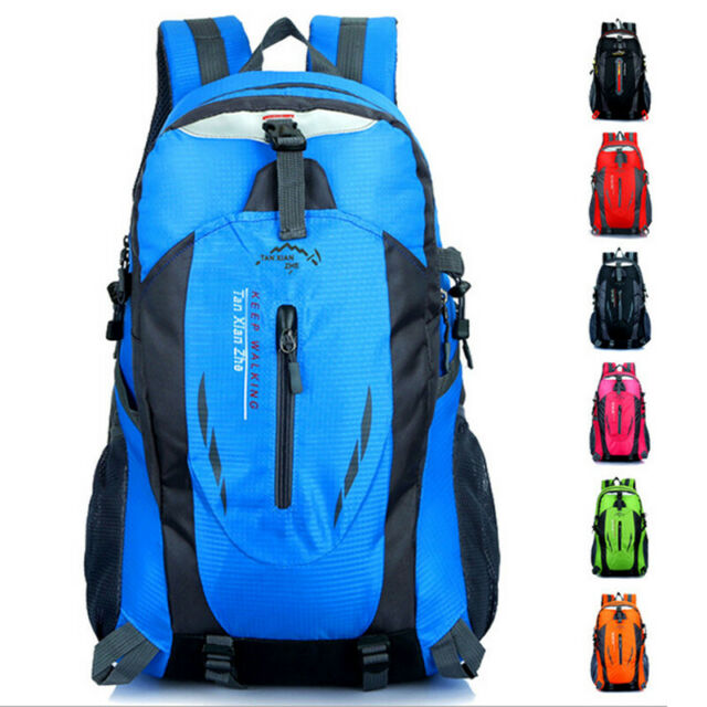 40 Liter Waterproof Outdoor Sports Bag Backpack Travel Hiking Camping Rucksack