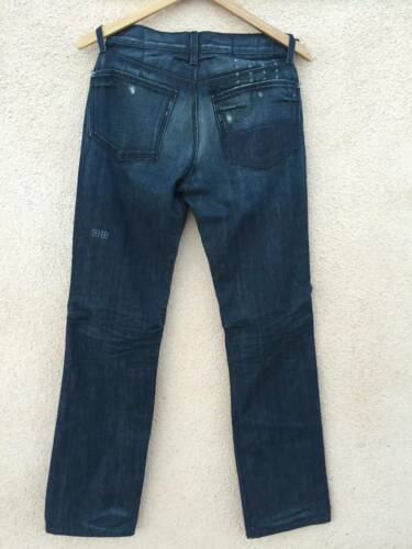 Ksubi Mens Raval pre loved indigo Denim dark Blue Jeans straight leg new