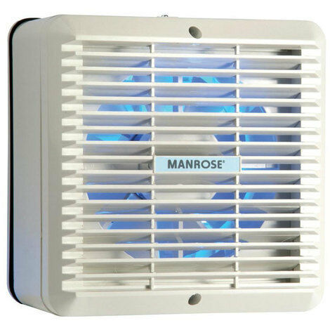 "Manrose XF150AP 6/"" 150mm Extractor Fan with Automatic Shutters /& Pull cord"