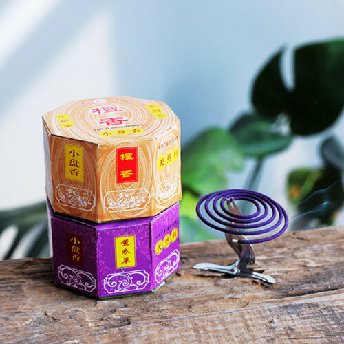 LD/_ Mosquito Dispeller Coils Repellant Home Outdoor Camping Incense with Holde