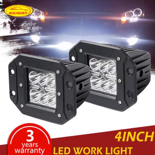 """4/""""Flush Mount Bumper Cube Pod Fog Lamp Driving Spot Truck Reverse led work light"""