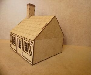 28mm-Fantasy-Tudor-Style-Modular-Timber-Frame-House-2mm-MDF-Laser-Cut-Kit