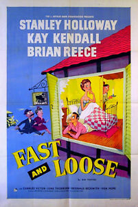 FAST-AND-LOOSE-1954-Stanley-Holloway-Kay-Kendall-Brian-Reece-UK-1-SHEET-POSTER