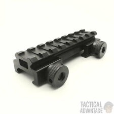 Low Profile 20mm Weaver Picatinny Rifle Scope Riser Rail Mount 8 Slot QD UK