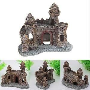 Aquarium castle decoration fish tank decor ornament for Aquarium cave decoration