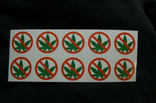 No SMOKING WEED vinyl decal stickers bulk packages window taxie bus business