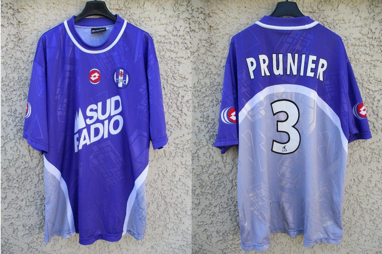 Maillot TOULOUSE F.C William PRUNIER n°3 LOTTO vintage shirt camiseta camiseta camiseta trikot XL cd6b22