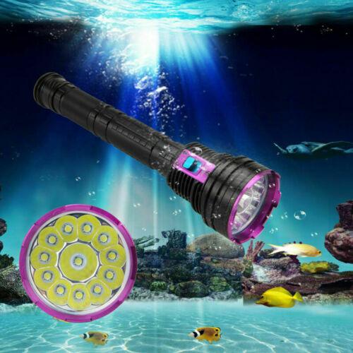 Waterproof 30000lm T6 LED Scuba Diving Flashlight Underwater 100M Torch Lamp