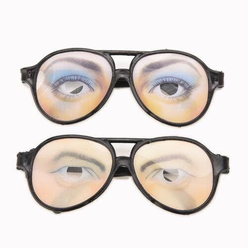 HALLOWEEN PARTY Funny Glasses Fake Novelty Gag Prank Eye Ball Joke Toys RS