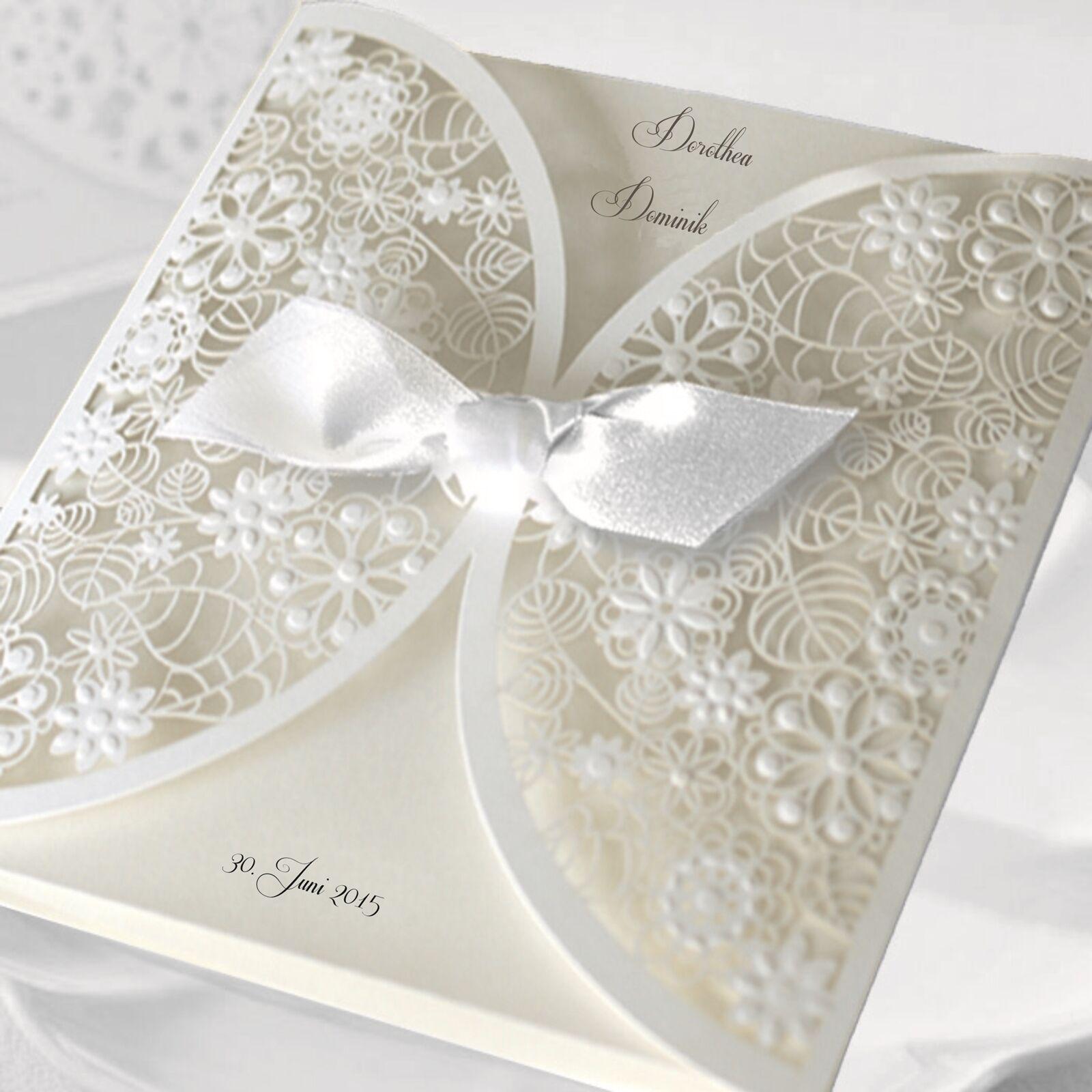 Einladungskarten Hochzeit FE27B mit Umschlag  Hochzeitskarte | Einfach zu bedienen  | Good Design  | Verschiedene