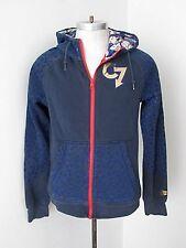 Nike blue hoodie sweatshirt zip up jacket glow in the dark heads Men's S