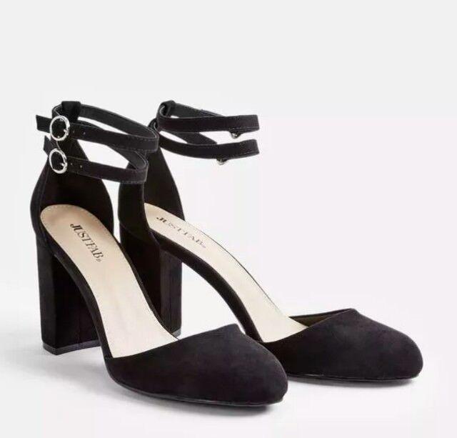 JustFab Clarysa Suede Feel Closed Toe 6 Heel Sandal Size UK 6 Toe 19c56a