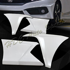 For 2016-2017 Honda Civic 4-DR Painted White Front+Rear Bumper Lip Body Kit 4PCS