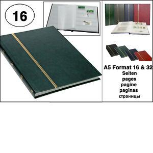 100% De Qualité Look 1131 Vert Timbres Album Einsteckbuch Album A5 Livret 16 Pages Blanches-um Einsteckbuch Album A5 Buchform 16 Weiße Seiten