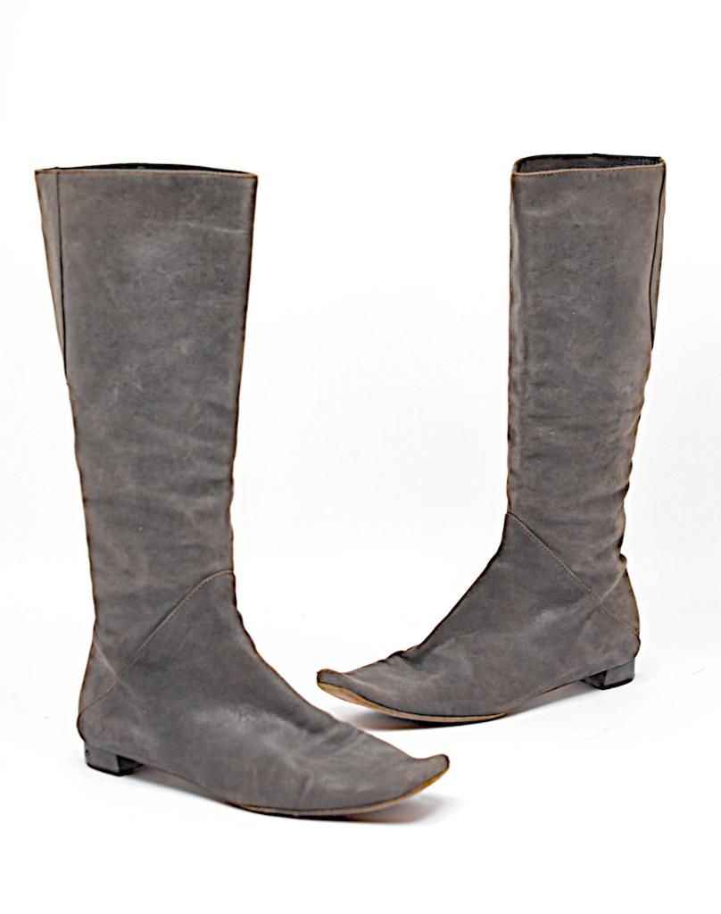Marni con aspecto envejecido gris Espresso ante de de de imitación cuero a la Rodilla botas Planas Talla 36  los últimos modelos